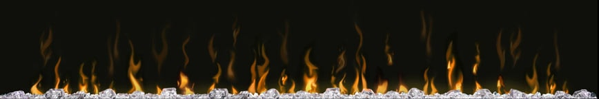 elektrische haard vuur en vlammen